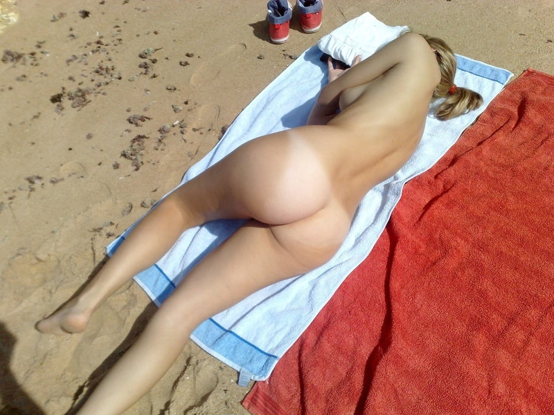 Picture wife revealing ass at the beach