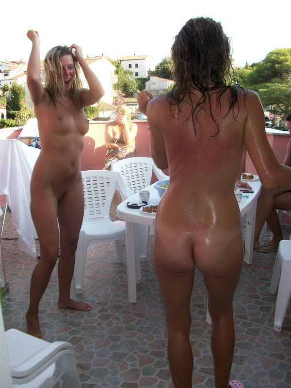 Picture nude wives partying outside