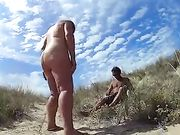 Sex on Secluded Beach with a Fat Mature Nudist Woman
