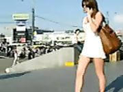 Candid Camera on the Street Super Hot Woman Filmed