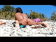 Hidden Voyeur Camera at Beach Nude Woman Pussy Filmed