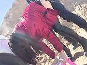Hidden Outdoor Sex Hot Chinese Girl Fucked from Behind
