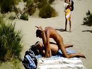 Amateur Couple Filmed Doing Sex on the Beach